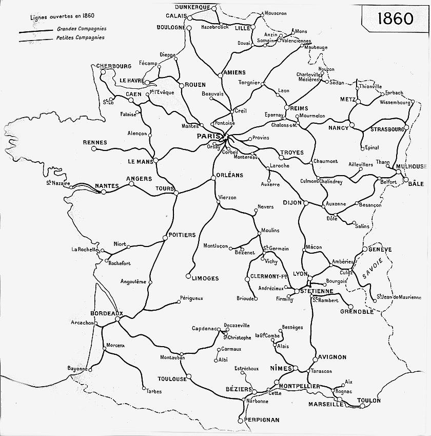 carte chemin de fer Le chemin de fer en Savoie – bis | ÉTAT de SAVOIE