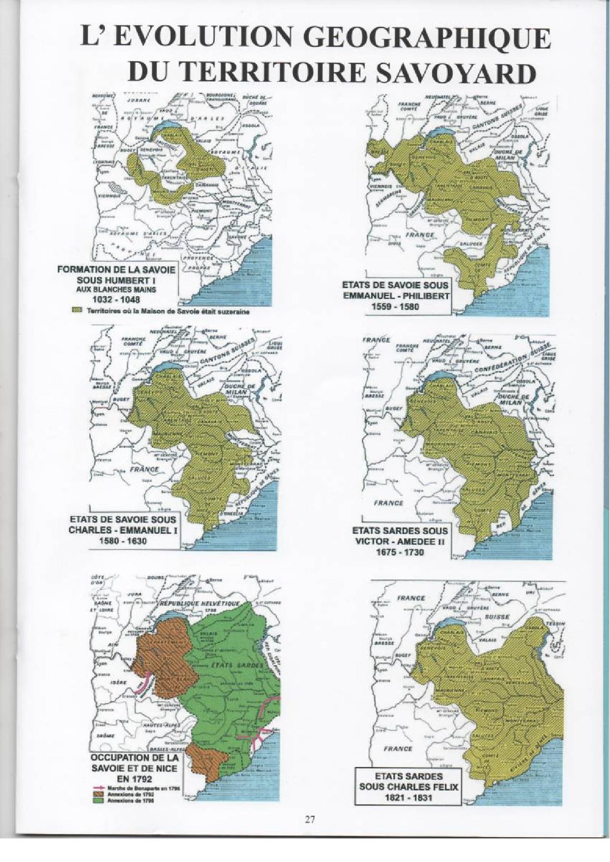La Geographie Etat De Savoie