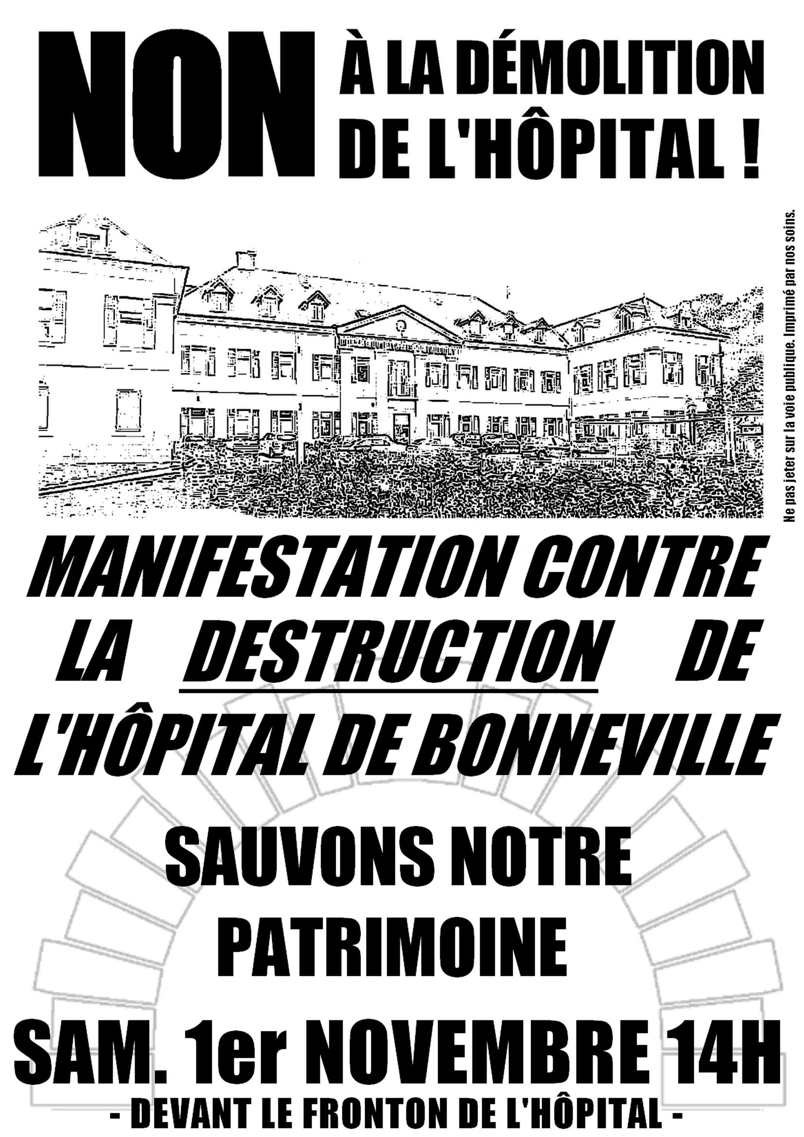 Affiches Hôpital Bonneville 2014