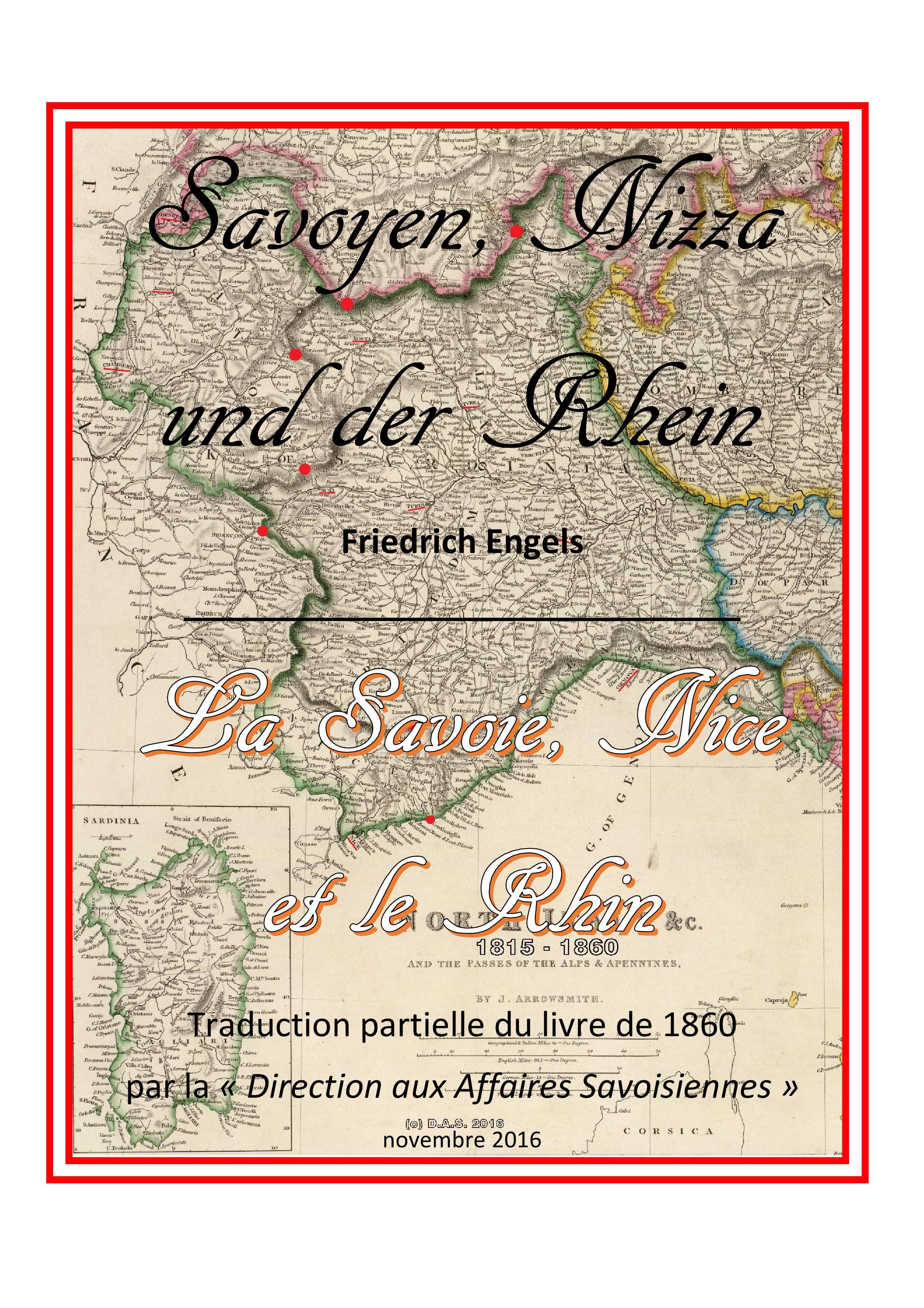 Savoyen, Nizza une der Rhein Friedrich Engels 1860 Savoie, Nice et le Rhin